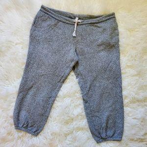 Victoria's Secret gray cropped joggers Medium